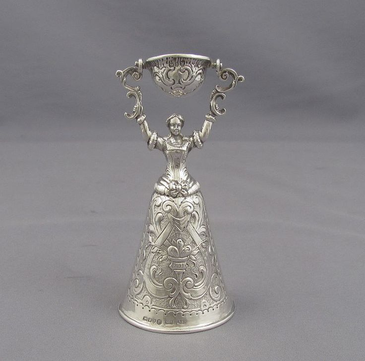 A continental silver wager cup with Chester import mark for 1902 by Samuel Boyce Landeck. cast in the traditional form...