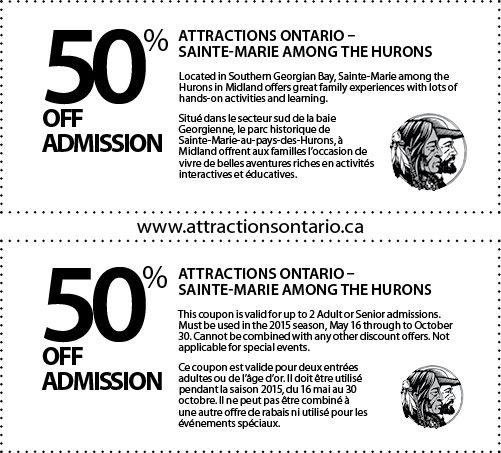 Sainte-Marie among the Hurons - 2015 Summer Coupon