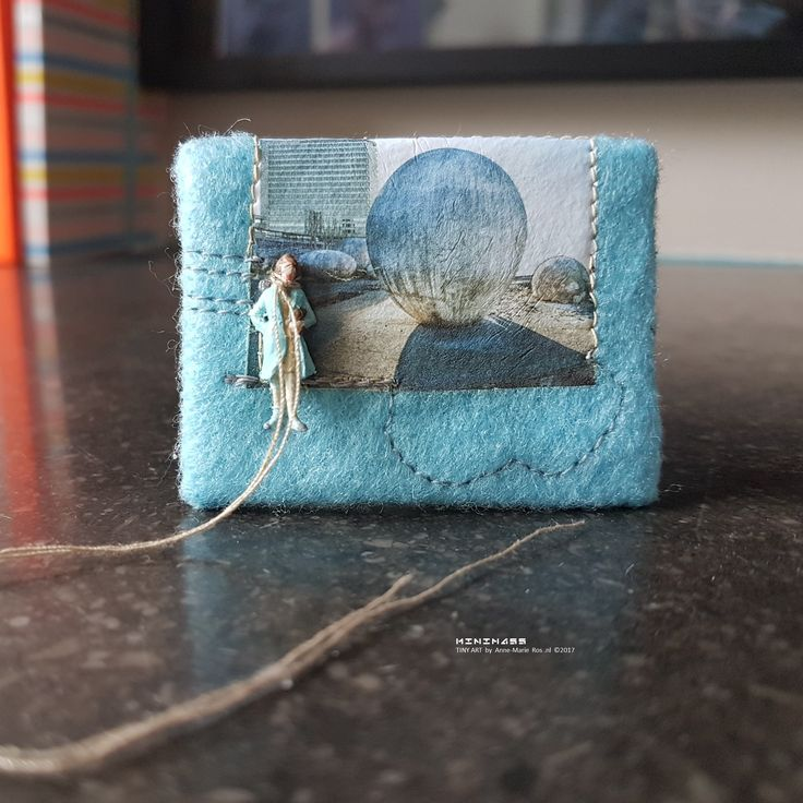 SOLD - made in commission #29 Alma Mater minimass TINY ART by Anne-Marie Ros