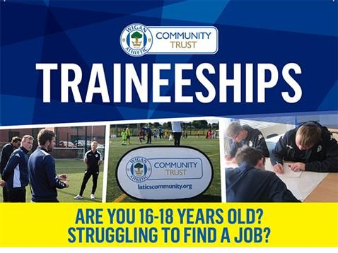 Wigan Athletic Community Trust are offering young people the chance to further their education and employment skills