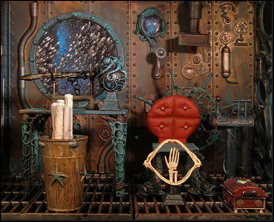 Steampunk bedroom decor steampunk under the sea theme Steampunk interior