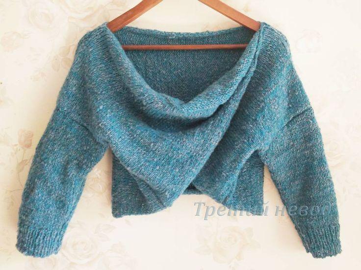 #Pregnant #pullover   Та-даам!!! Как вам?  Чудесный кашемир Lotus превратился в чудесный укороченный пуловер. #Вязаный #свитер для #беременной, #вязаный #пуловер для #беременной. #мода для #беременных