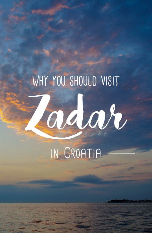 This will have to happen the next time we visit Croatia! Why you should visit Zadar in Croatia
