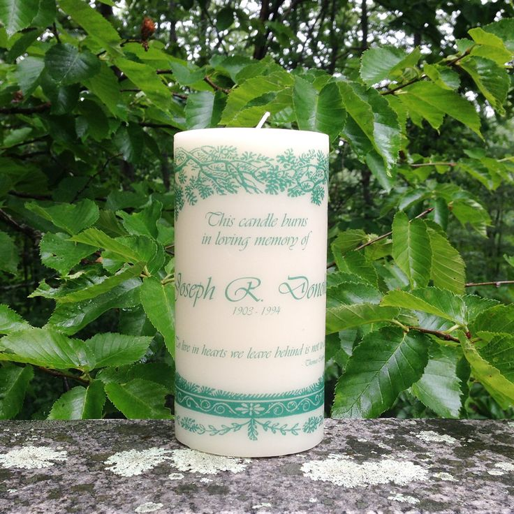 Evergreen Remembrance Candle, In Loving Memory Candle, Wedding Memorial Candle, Personalized Candle, Funeral Candle, Sympathy Gift Candle by ChandlerAndKemp on Etsy https://www.etsy.com/listing/237184403/evergreen-remembrance-candle-in-loving