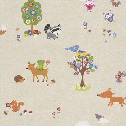 Rasch Bambino Woodland Creatures Animals Childrens Nursery Wallpaper