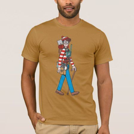 Where's Waldo with all his Equipment T-Shirt - click/tap to personalize and buy