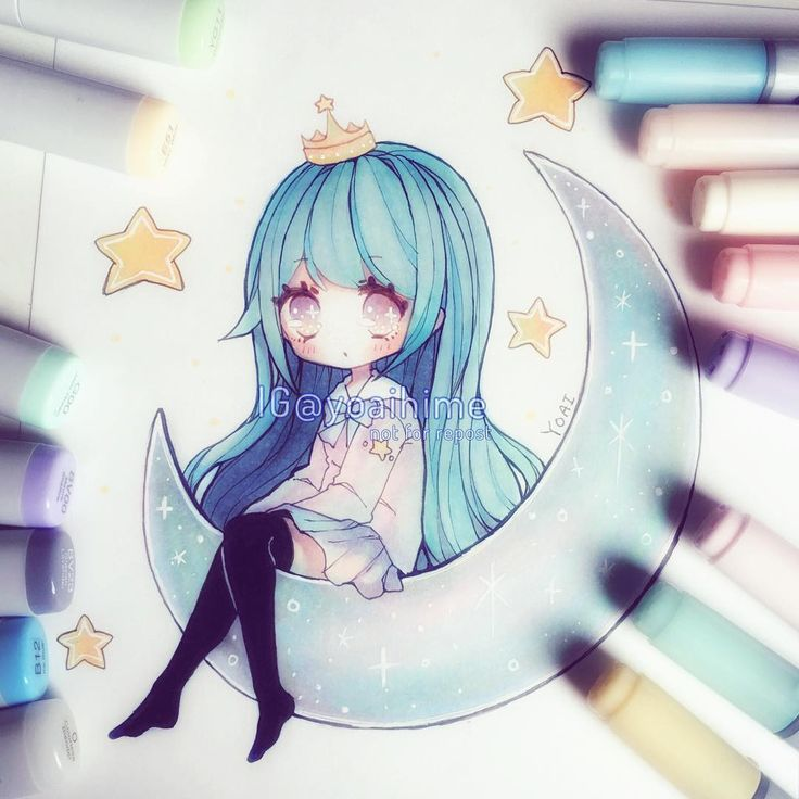 I somehow lost one of my markers while drawing uwu Also I didn't really know what colour to make the moon....I didn't want it to be same colour as stars but then if I made it grey like the real moon it wouldn't go with the chibi (´・Д・)WIP of this is on my twitter~ (link in my bio) -----------------MATERIALS LIST: #copic #multiliner #copicmarkers #uniball #gelpen #cansonpaper ------------ #copicart #chibi #illustration #drawing #instaart #instadraw #instaanime #instamanga #anime #animeart…