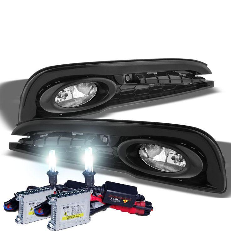 HID Xenon + 2013-2014 Honda Civic 4DR Sedan JDM-Style Fog Lights - White