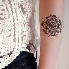 Mandala temporary tattoo