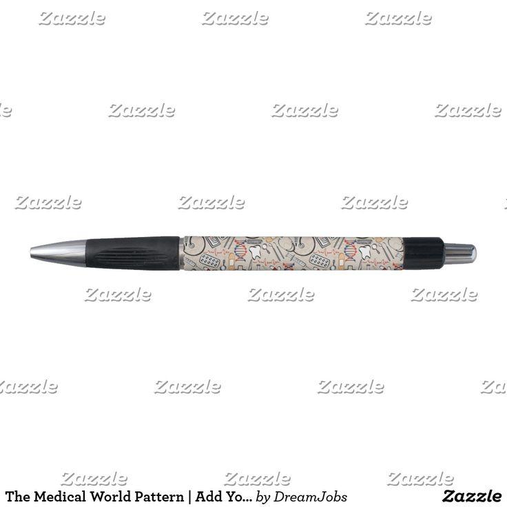 The Medical World Pattern | Add Your Name. Producto disponible en tienda Zazzle. Tecnología. Product available in Zazzle store. #pen #lápiz