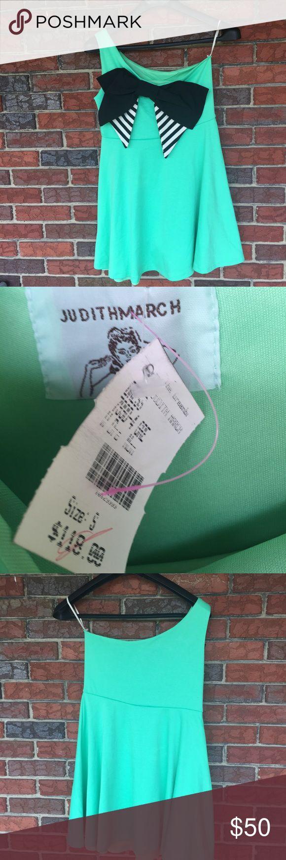NWT Judith March One Shoulder Dress NWT Judith March one shoulder Dress. Great black bow on front. Judith March Dresses One Shoulder