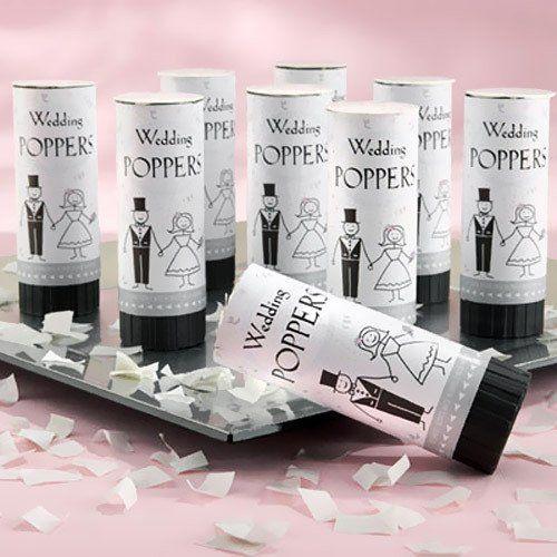 Eco Friendly Wedding Confetti Poppers by Beau-coup