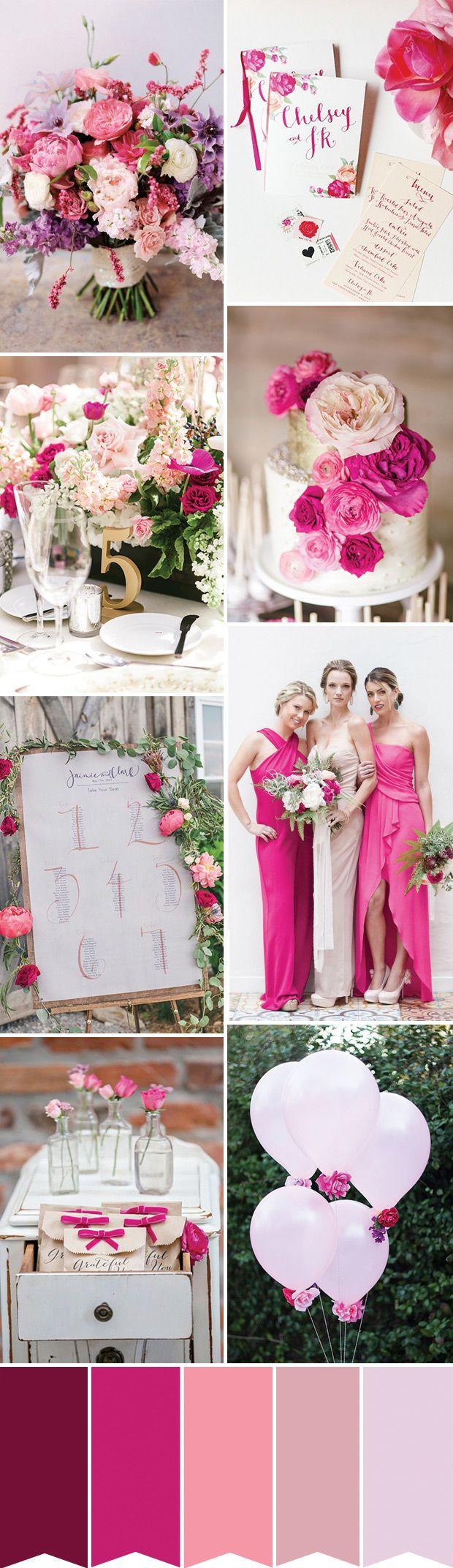 Pretty Pink Wedding Inspiration | www.onefabday.com
