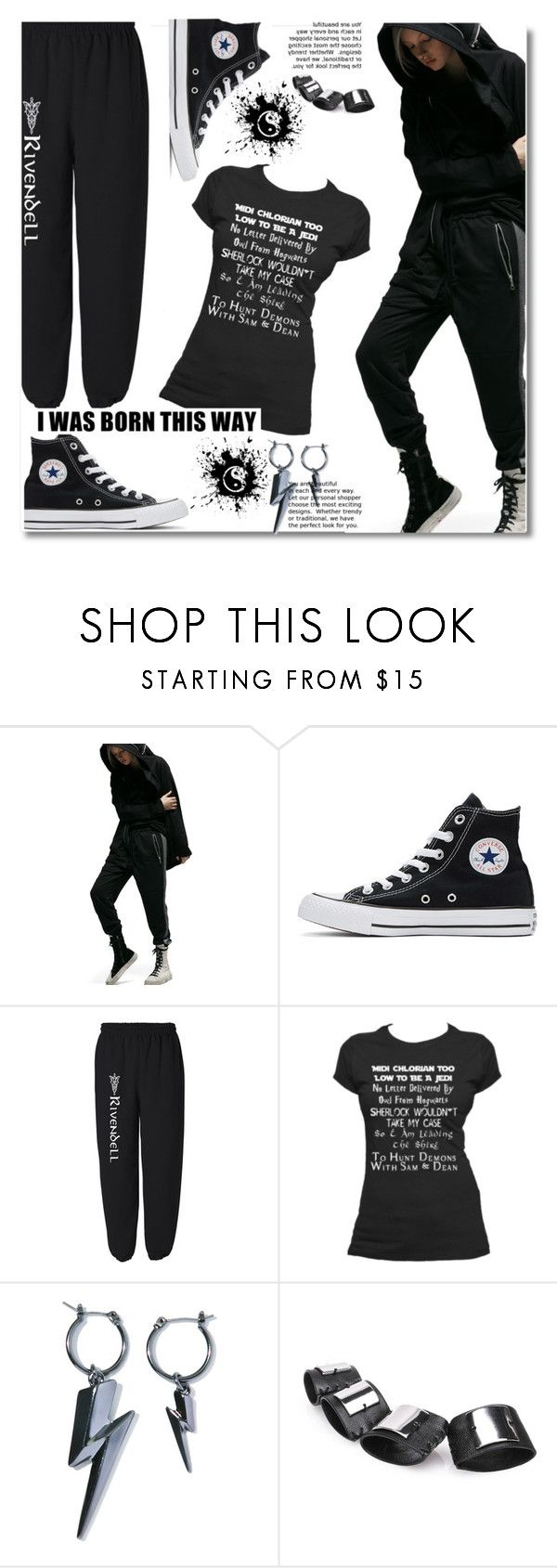 """Cool joggers"" by paculi ❤ liked on Polyvore featuring Converse, Cheap Monday, StreetStyle and casual"