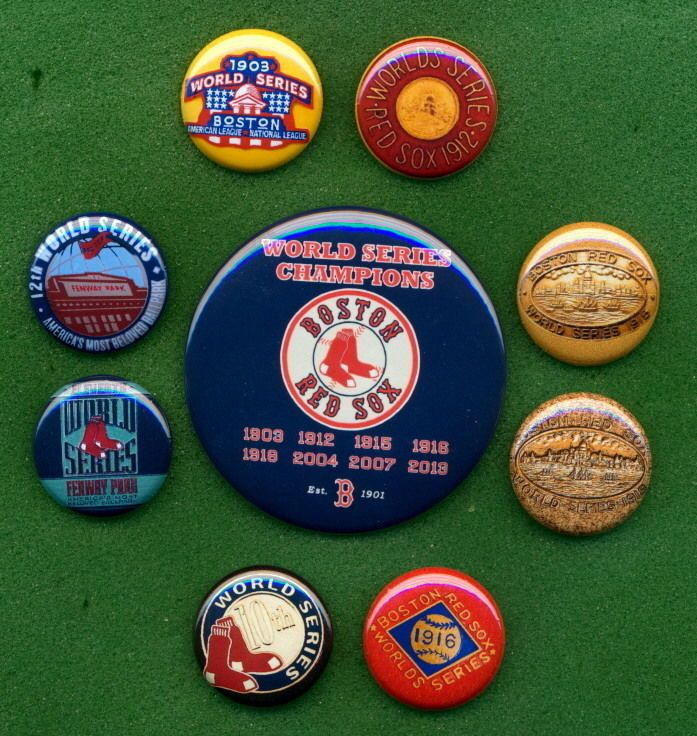 Red Sox 1903 - 2013 World Series Champions Banner Press (9) RP *PINs* Fenway