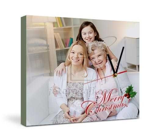 L'orologio su tela con grafica natalizia