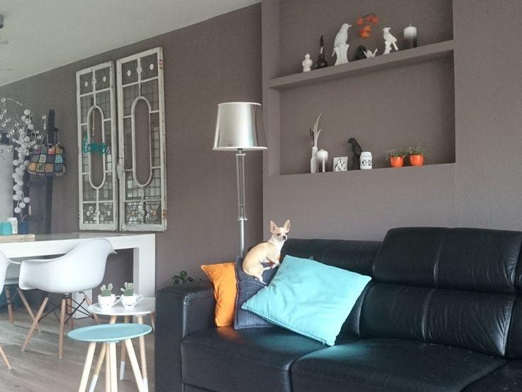 25 beste idee n over oranje meubels op pinterest oranje beschilderde meubels - Eigentijdse woonkamer decoratie ...