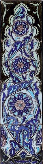 William de Morgan tile panel. Catleugh collection
