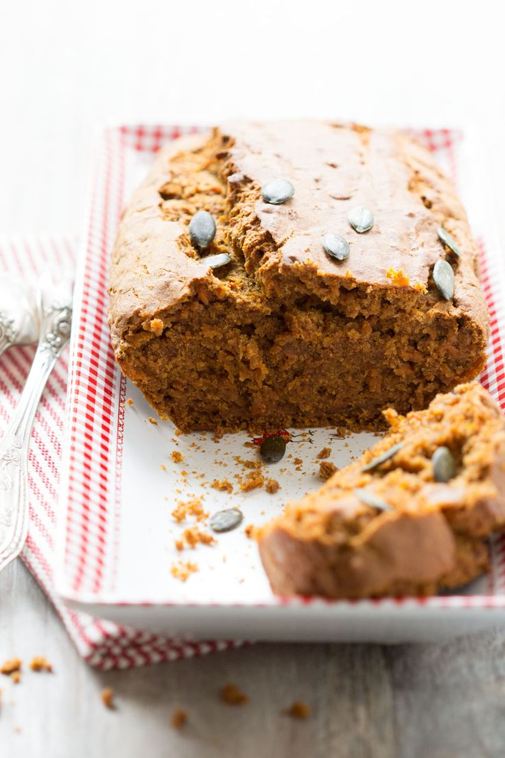 Pumpkin bread gâteau courge - vegan - sans gluten