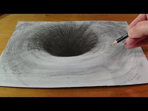 Drawing a 3D Black Hole, Anamorphic Art - YouTube