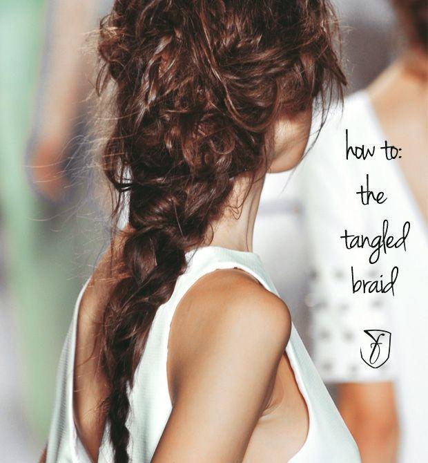 #hairstyle how to: Rachel Zoe Spring 2014's adorable tangled #braid http://www.fashionising.com/hair/b--tangled-braid-63864.html
