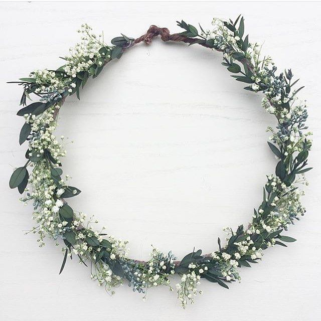 Preserve leaves and dried Gypsophila