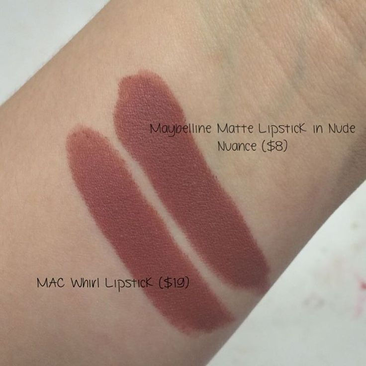 """Brittany Semotiuk on Instagram: """"DUPE ALERT: found a dupe to @maccosmetics Matte lipstick in """"Whirl"""" (left) which is @maybelline Creamy Matte lipstick in """"Nude Nuance' (right). This is the closest dupe ive found in shade, undertone & finish! And its half the price! Obsessed  @trendmood1 @dupethat Photo taken with no flash, no editing, in natural lighting & on an iphone camera"""""""