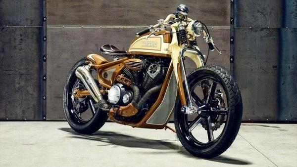 """Yamaha XV950 Bobber """"Playa del Rey"""" by Matt Black Custom"""