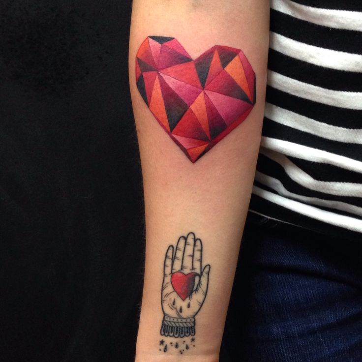 Heart tattoo watercolor By Juan David Castro R                                                                                                                                                      More