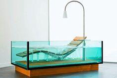 Unique Bathroom Tub Ideas- lounge chair in a tub! #uniquebathroom #bath #bathroomswelove