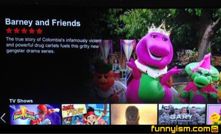 I love how it rates Barney 5 stars. That was the first thing I saw.