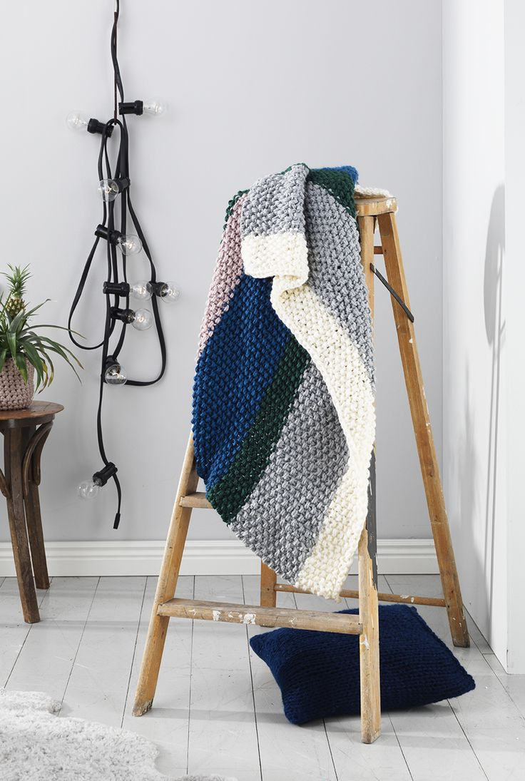 #DIY #interior #blanket #knitting #yarn