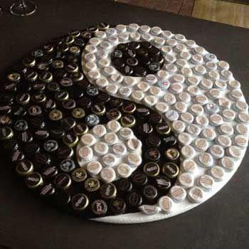 50 fotos e ideas para decorar con chapas de botellas. | Mil Ideas de Decoración
