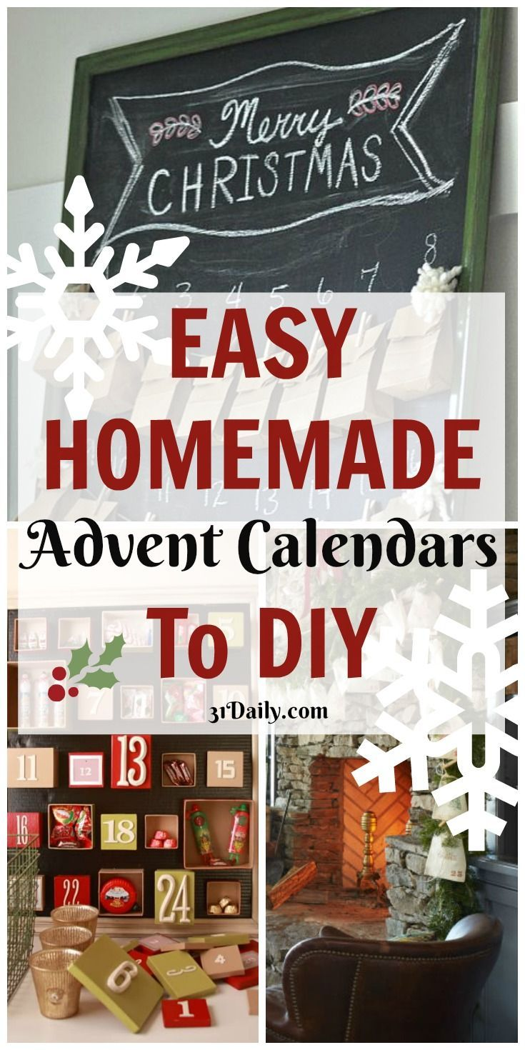 Easy Diy Calendar Ideas : Best homemade advent calendars ideas on pinterest