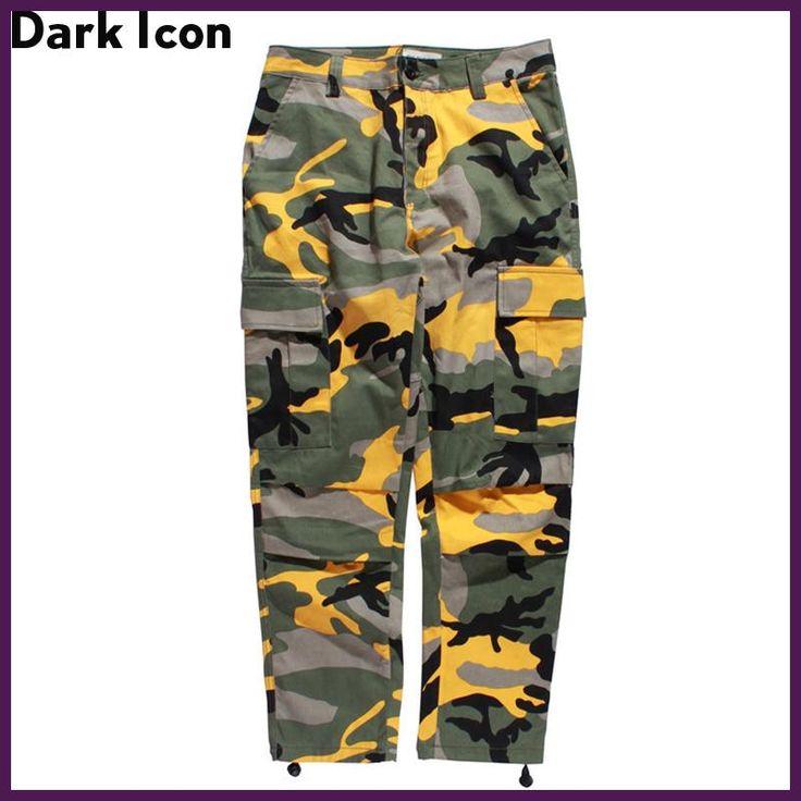 Camouflage Men's Cargo Pants Full Length 2017 Spring Multy Camo Hip Hop Pants Men Women Streetwear Toursers Men 8 Colors
