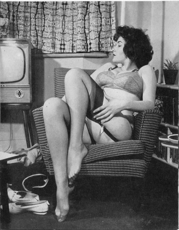 Vintage stockings nobs