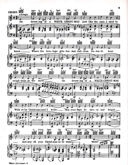 """White Christmas"" jazz piano solo Members Recordings"