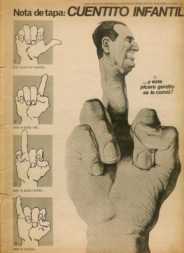 El Gran Dedazo Satiricon n°10, agosto '73 Lanusse
