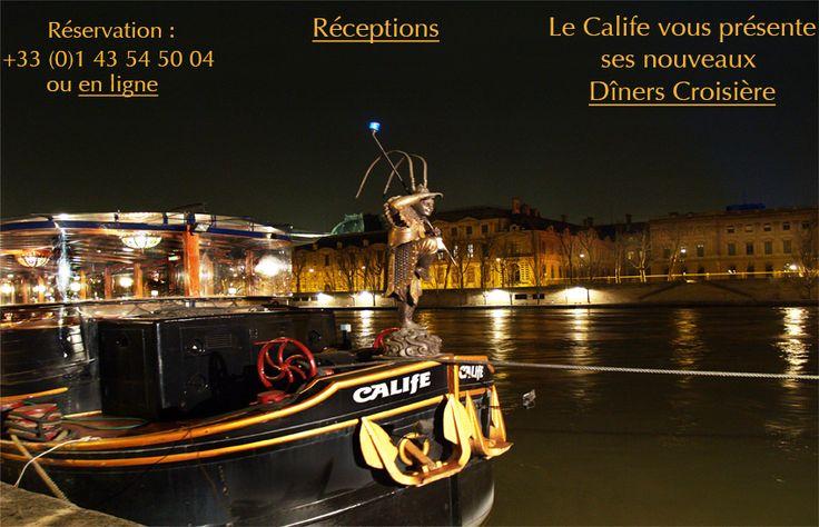 diner croisiere Paris restaurant bateau peniche Seine soirée sortir paris