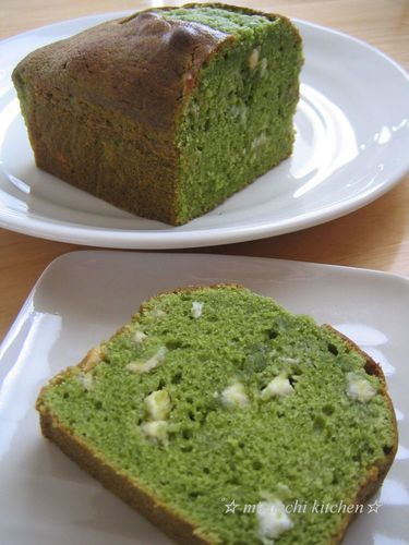 Matcha Milk Pound Cake☆ with White Chocolate
