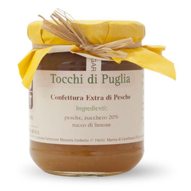 CONFETTURA EXTRA DI PESCHE GR 260 TOCCHI DI PUGLIA  (070895)