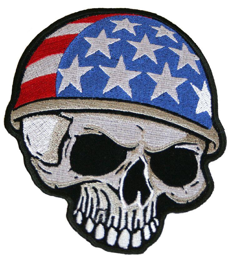 Parches moteros, productos americanos, USA, made in USA, parches bordados, calavera. Do it yourself. DIY. Customiza tus jeans, customiza tu ropa. www.usamericanshop.com