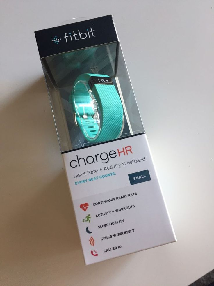 NEW SEALED Fitbit Charge HR Small Teal | Sporting Goods, Fitness, Running & Yoga, Fitness Technology | eBay!  $99.99