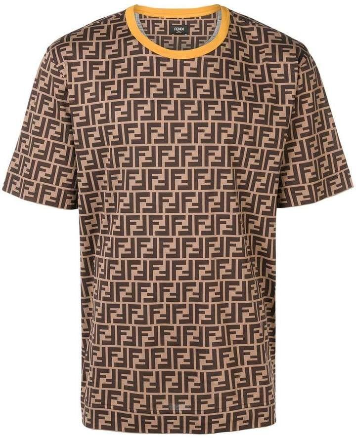 8af3230e Fendi Printed FF Logo T-shirt | Products in 2019 | Shirts, Fendi ...