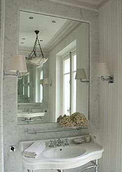 1/2 bath idea - would love to use the bead board in the back bathroom