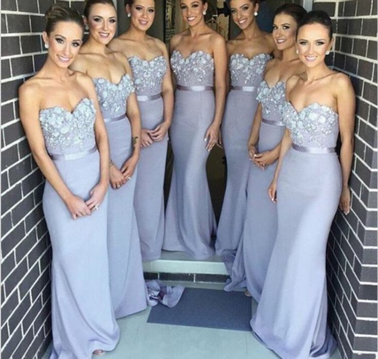 Periwinkle bridesmaid dresses. Love he Color it's perfect! Love the top half and possibly even the fabric but not the length!
