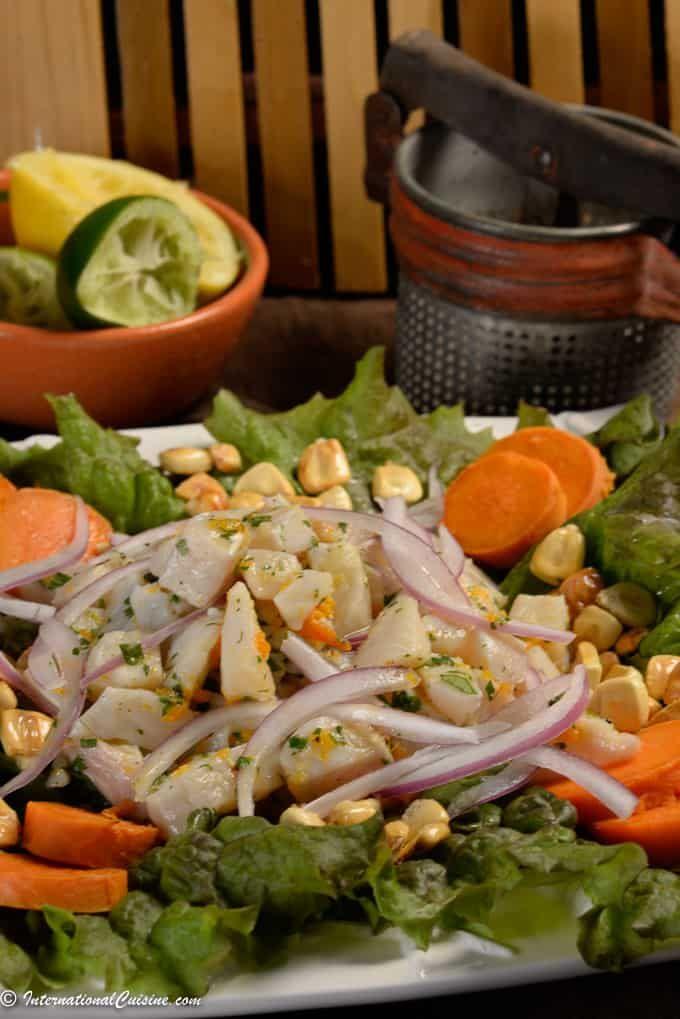 Peruvian Ceviche The National Dish Of Peru Recipe Peruvian Ceviche Ceviche Recipe Peruvian Recipes