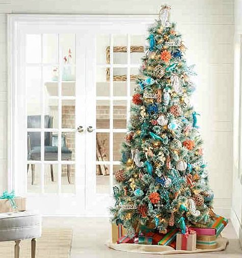 111 best Beach Christmas images on Pinterest Nautical christmas - beach themed christmas decorations