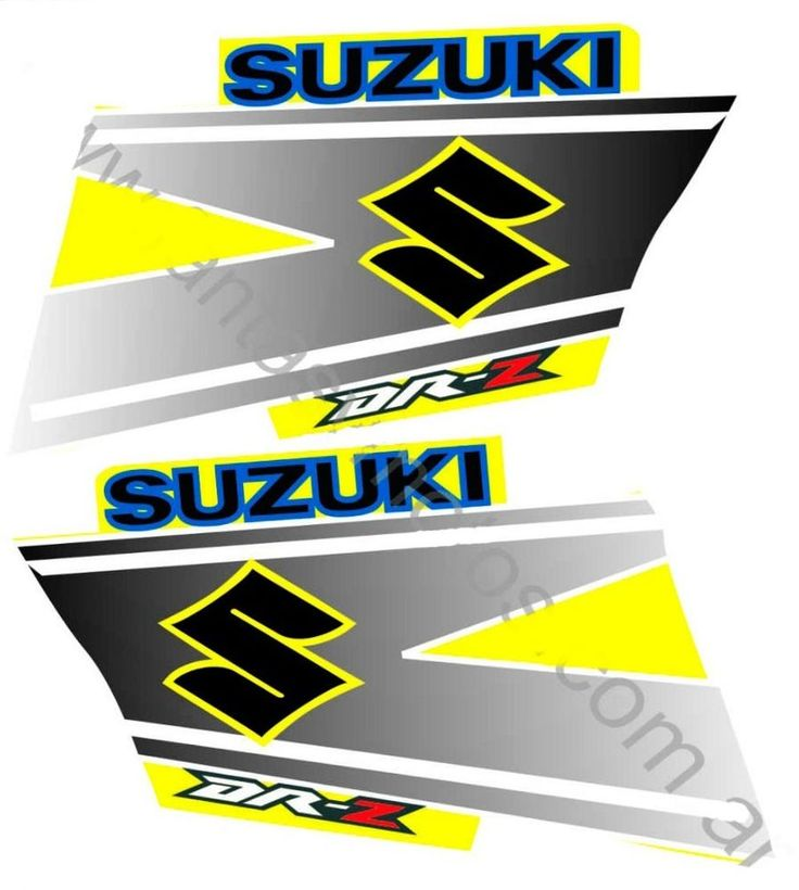 SUZUKI DRZ DRZ DRZ KIT Decals Tank Stickers Atv - Suzuki motorcycles stickers