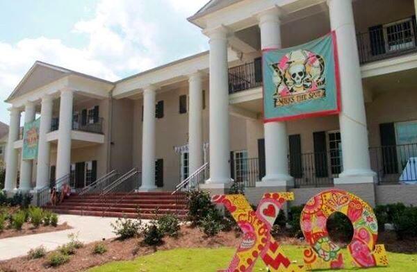 Chi Omega House At Mississippi State University Hail